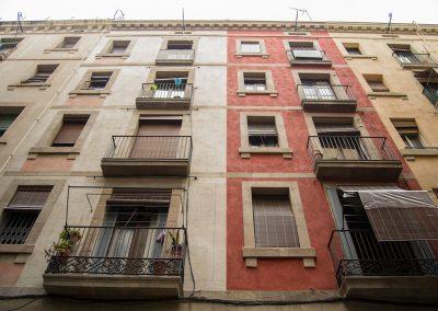 Rehabilitació de façana al C/Riereta 1ter