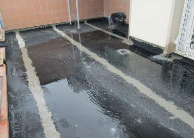 Impermeabilització de terrasses al C/Marina
