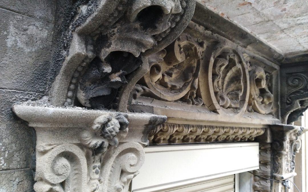 Rehabilitació de la façana principal de la Casa Eduard Drouard